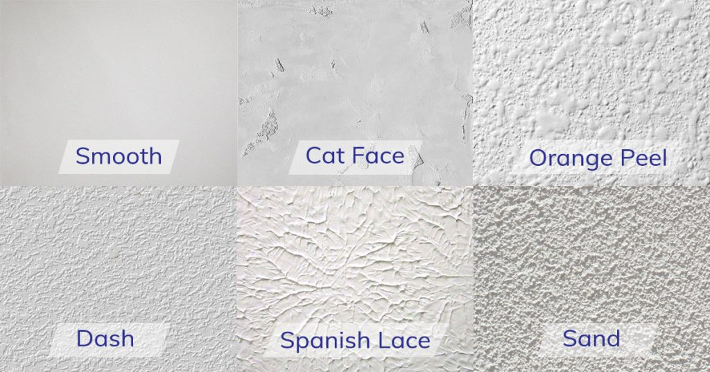 Examples of textures to use on stucco surfaces.  Finishes can vary in depth from light, medium, to heavy, creating greater contrast and texture emphasis